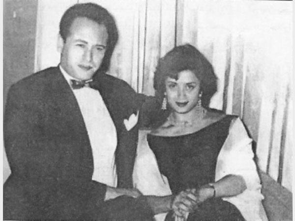 عبد المنعم إبراهيم وزوجته الثانية