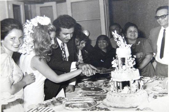 زفاف نور الشريف وبوسي