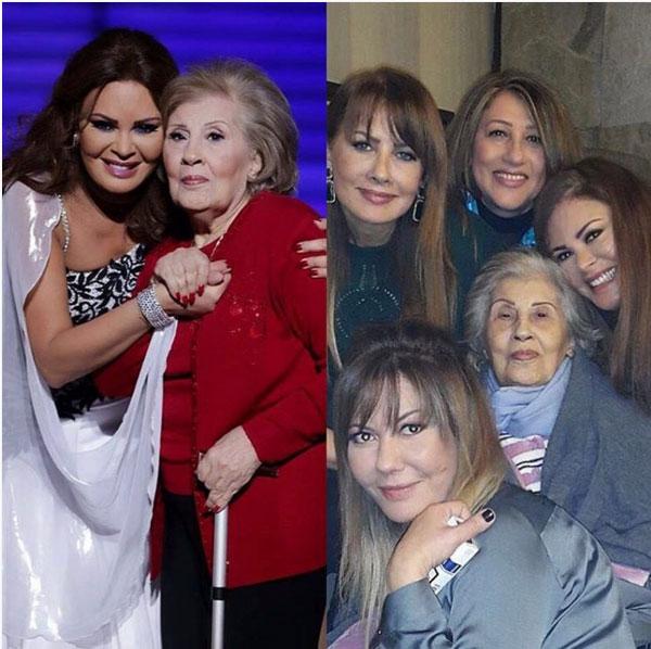كارمن لبس ووالدتها وشقيقاتها