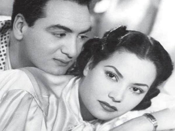 محمد فوزي و مديحة يسري