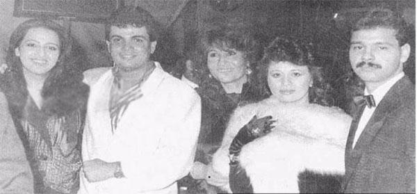 عمرو دياب وشقيقة الهام شاهين