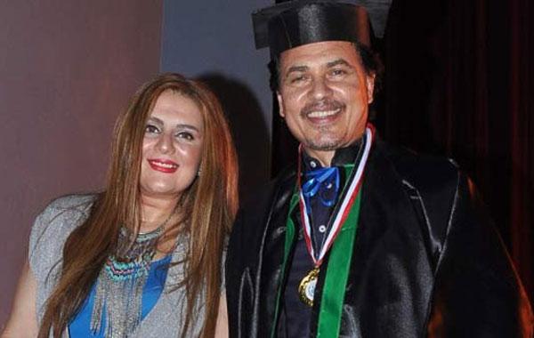 محمد رياض وزوجته رانيا محمود ياسين