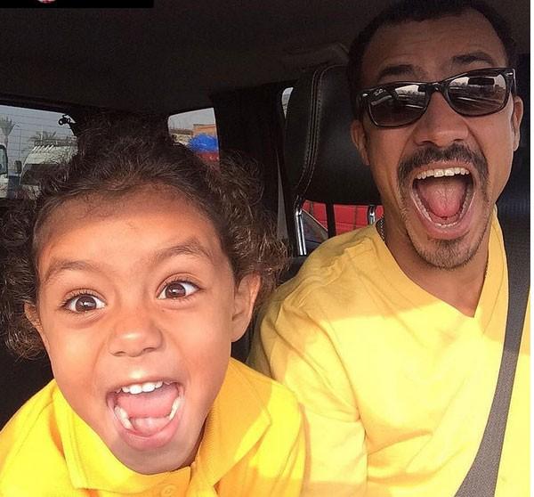 احمد داوود وابنته