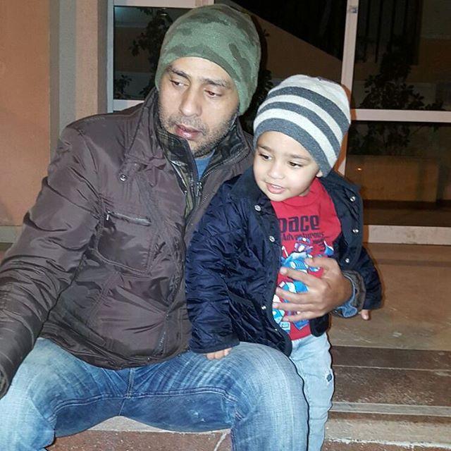 محمود عبدالمغني وابنه