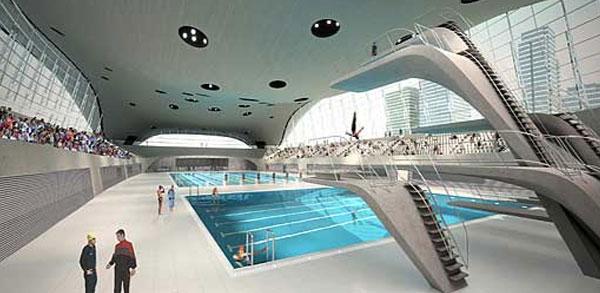 مركز لندن المائي من الداخل