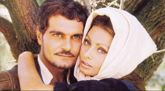 عمر الشريف وصوفيا لورين