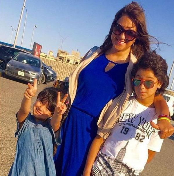 مروة عبدالمنعم وأبنائها