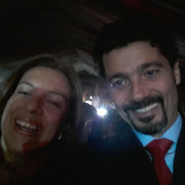 خالد النبوى وزوجته