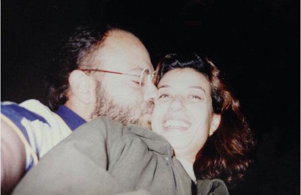 منال سلامة وزوجها