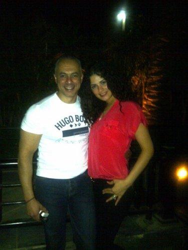 نسرين امام وزوجها تامر مرسي