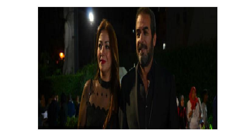 احمد عبدالعزيز وزوجته