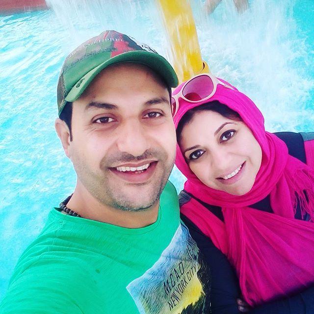حمادة بركات وزوجته