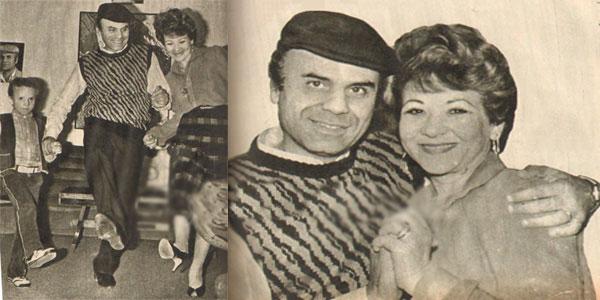 هناء الشوربجي وزوجها
