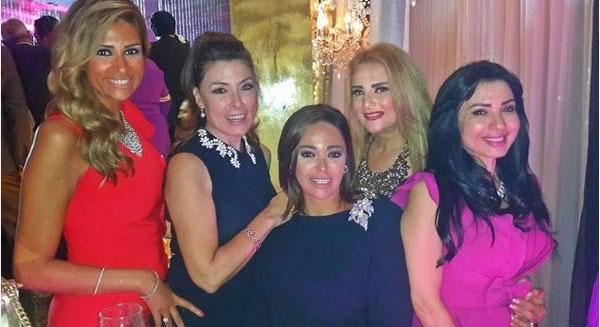 نجوم الفن في زفاف حنان مطاوع وامير اليماني