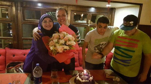 ميار الببلاوي وزوجها