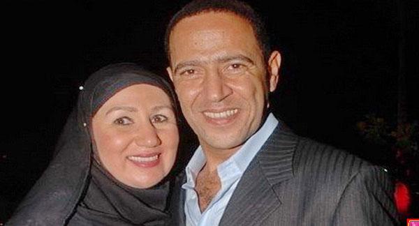 اشرف عبد الباقي وزوجته
