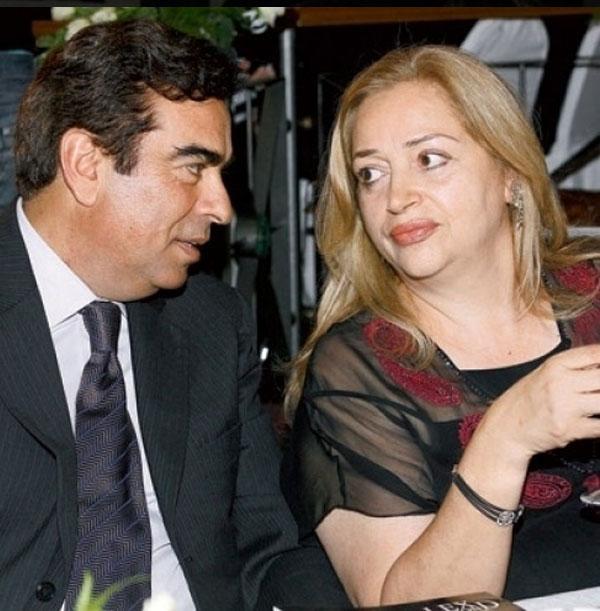 جورج قرداحي وزوجته