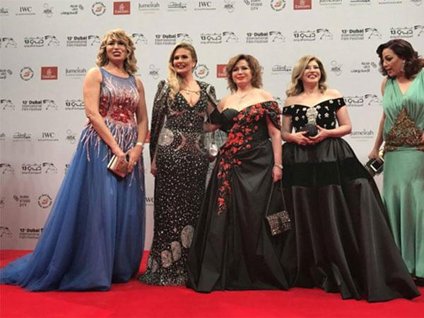 النجوم في مهرجان دبي السينمائي