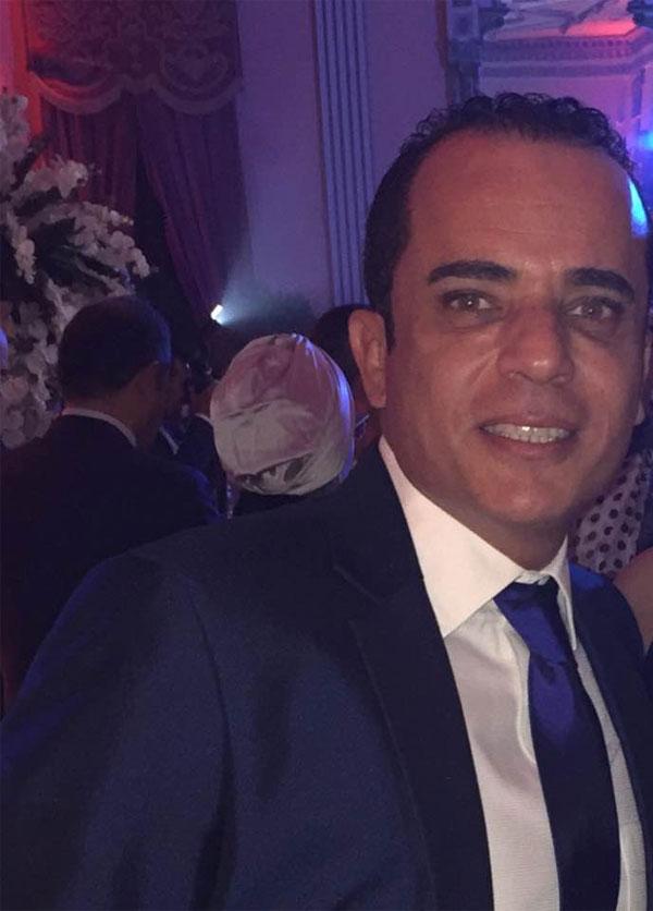 محمد الشقنقيري في حفل زفاف داليا البحيري
