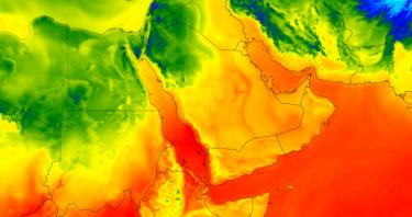 درجات الحرارة في الخليح