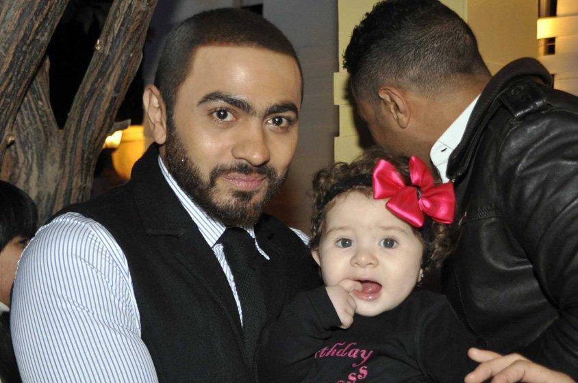 تالية ابنة تامر حسني وبسمة بوسيل2
