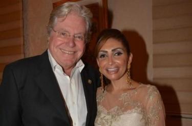 حسين فهمي وزوجته رنا القصيبي