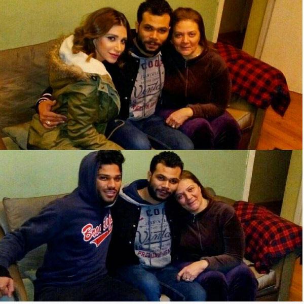 احمد عبدالله محمود ووالدته وشقيقه