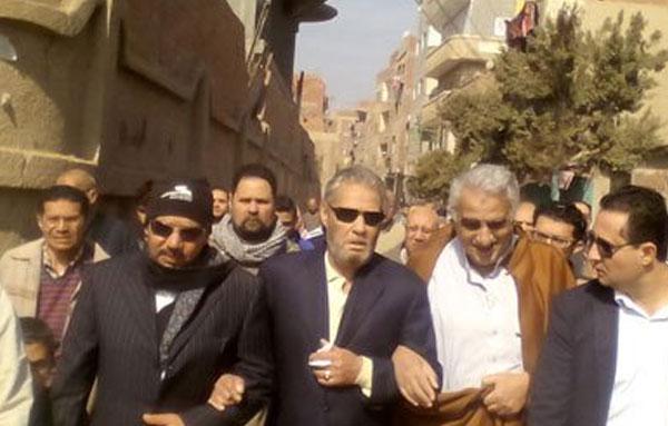 جنازة شقيق فاروق الفيشاوي