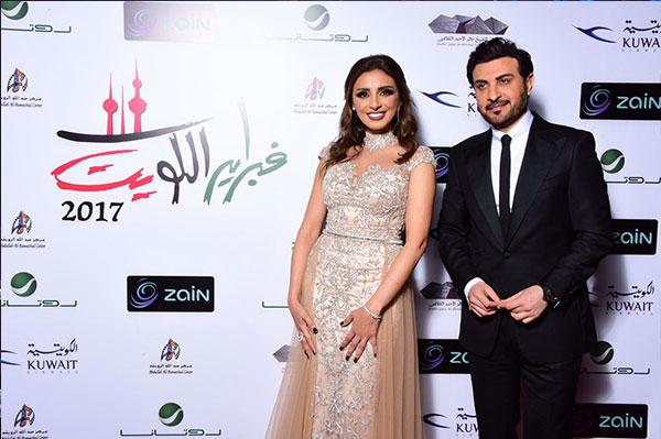 انغام تتألق باطلالة عالمية في  فبراير الكويت
