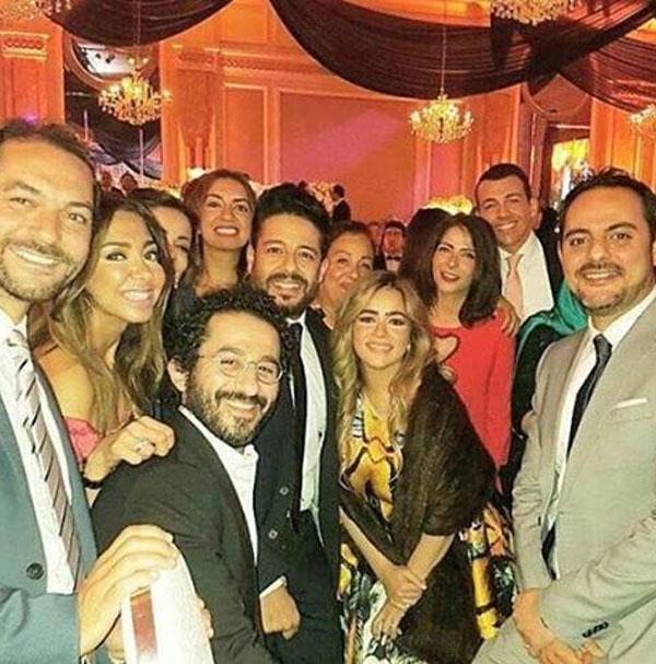 محمد حماقي وزوجته و احمد حلمي و منى زكي