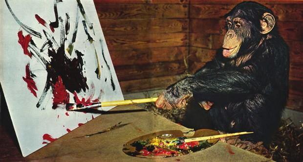 نتيجة بحث الصور عن لوحة قرد