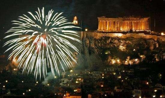 احتفالات رأس السنة بأثينا اليونان