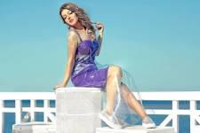 إطلالة سميرة سعيد بفستان من البلاستيك